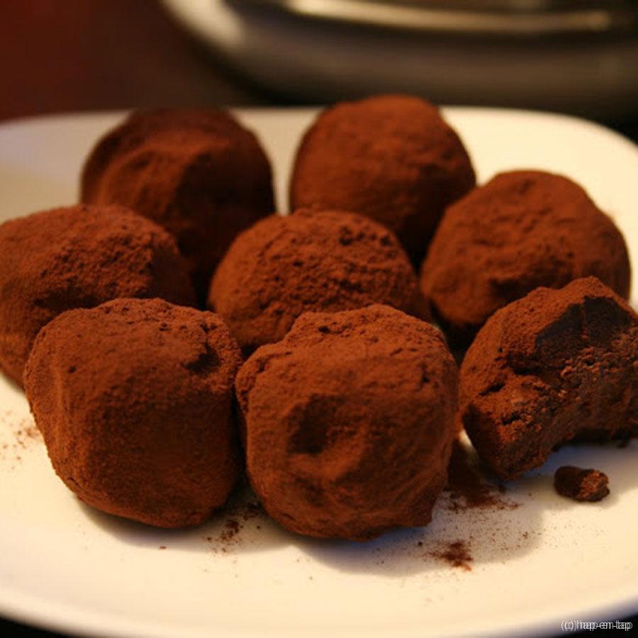 Chocolade- en chilitruffels