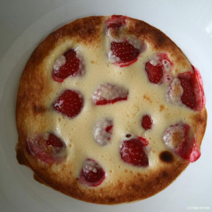 Gegratineerde sabayon met aardbeien