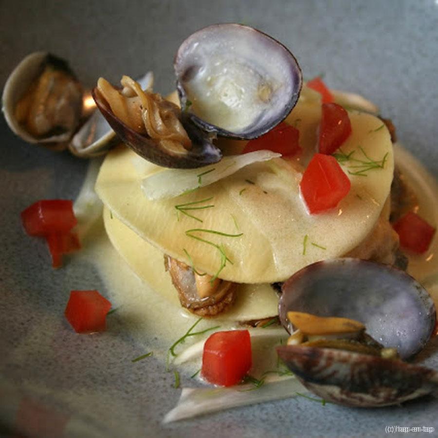 Mossel- en venusschelpen lasagne