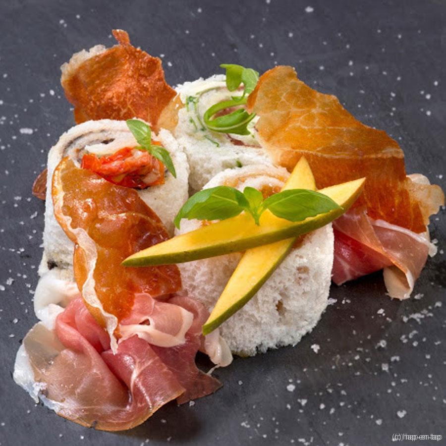 Sushi met Parmaham 3 x anders