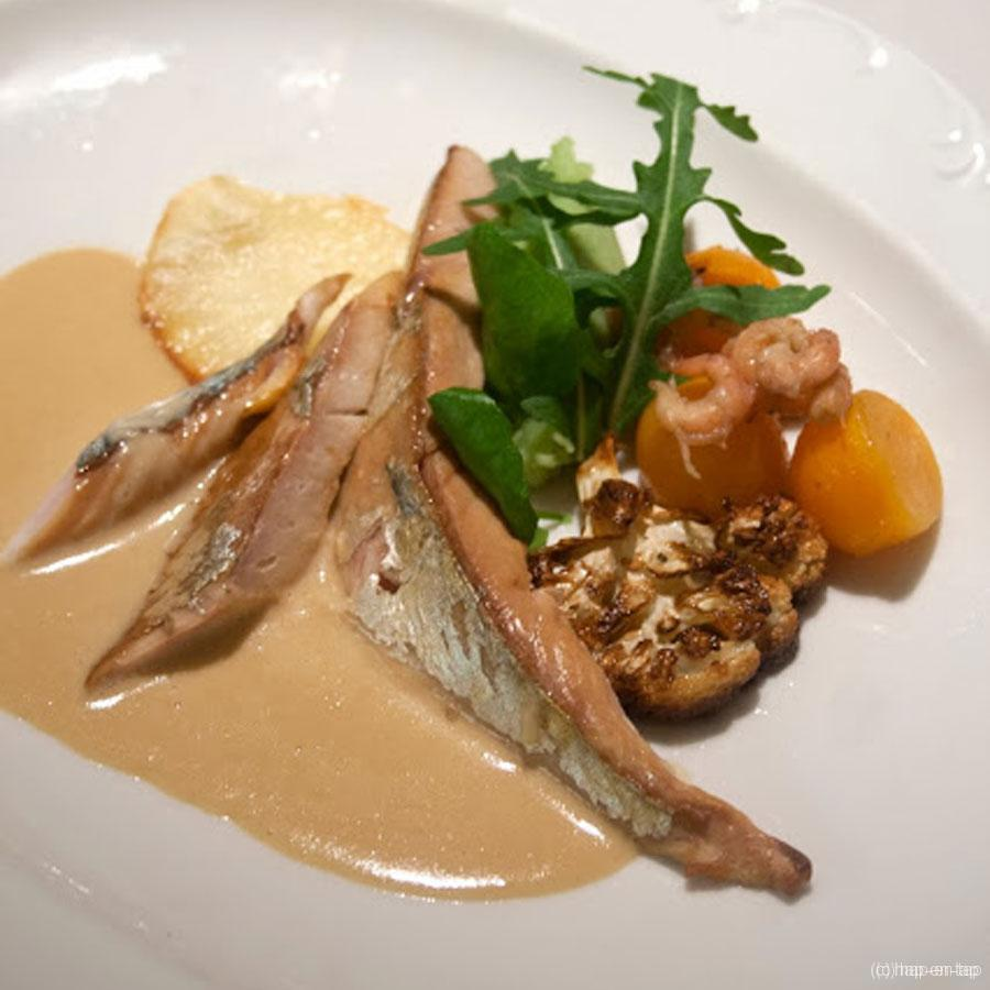 Gerookte makreel met een saus van Rodenbach Grand Cru