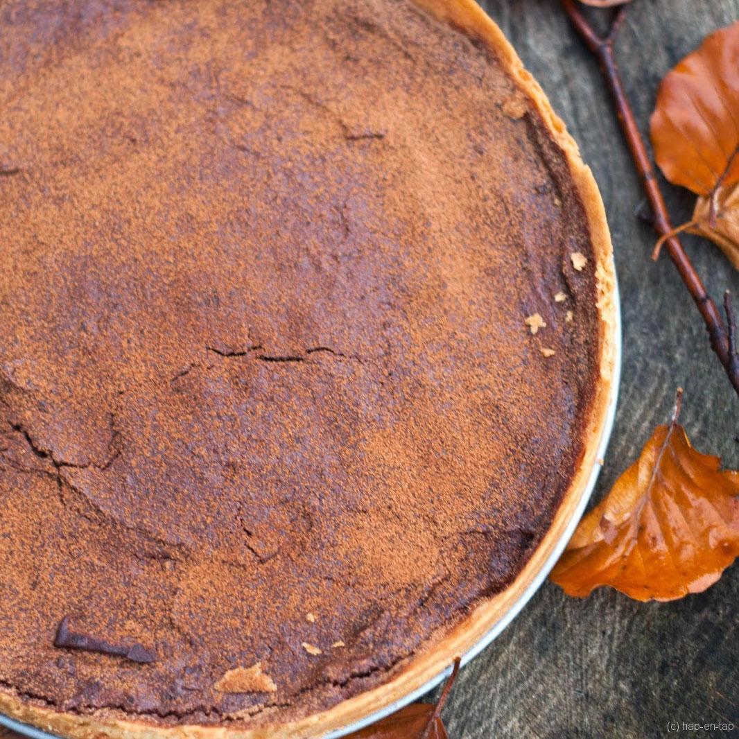 Kastanje-chocoladetaart