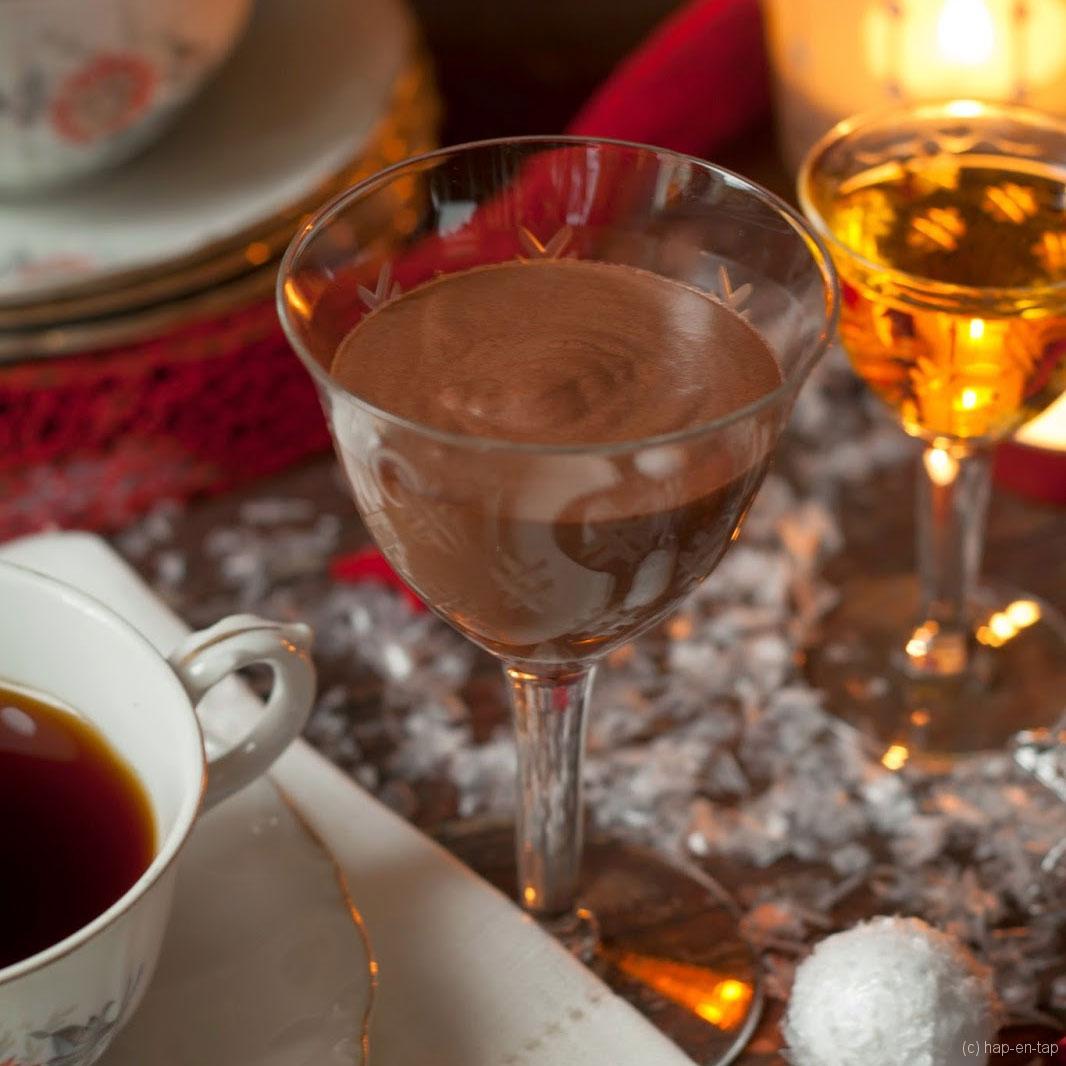 Espuma de chocolate con Licor 43 (chocolademousse met Licor 43)