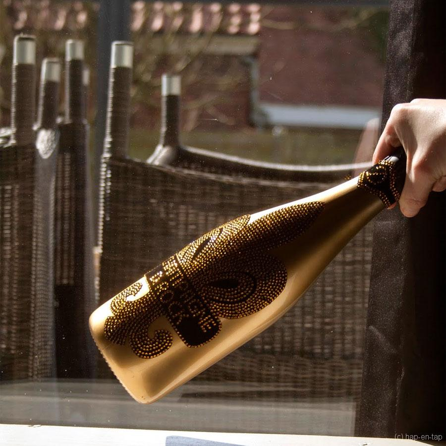 Nieuwe state-of-the-art champagne die rockt: D.Rock Brut gold Champagne
