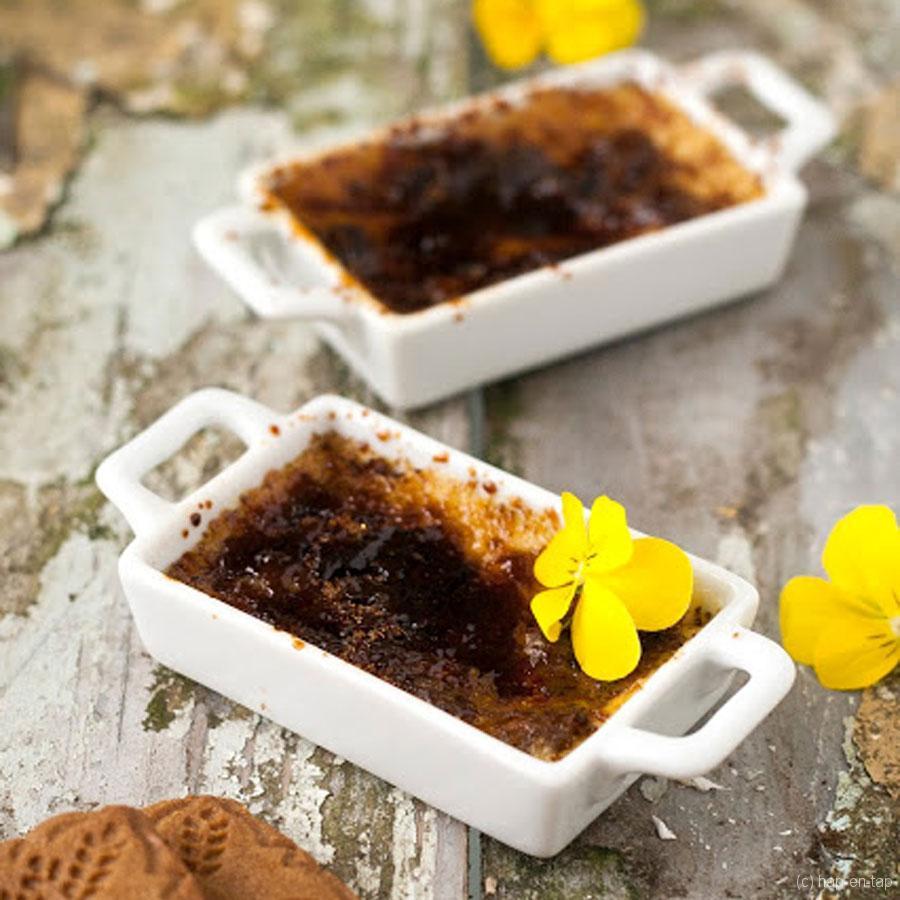 Crème brûlée van faux of foie gras met Jules Destrooper speculaas