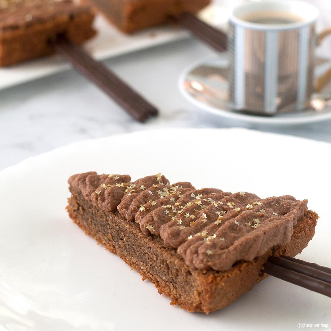 Dennenboom met chocolade & koffie topping