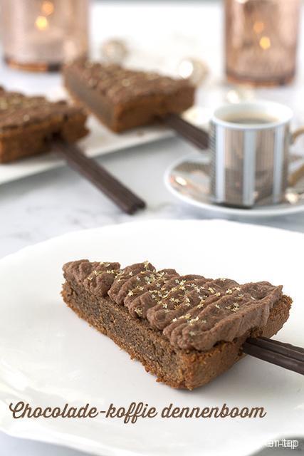 Chocolade-koffie dennenboom