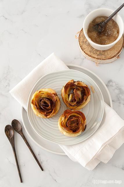 Hartige aardappelroosjes met gerookte eendeborst en foie gras