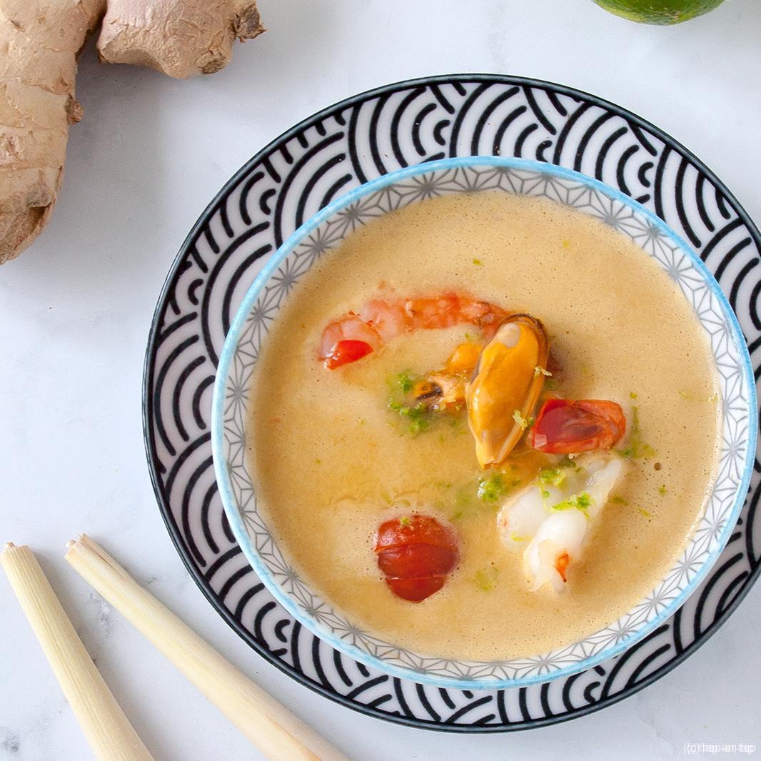Thaise soep met zeevruchten en citroengras (in de Thermomix)