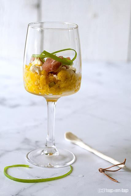 Granité van pickles, pancetta
