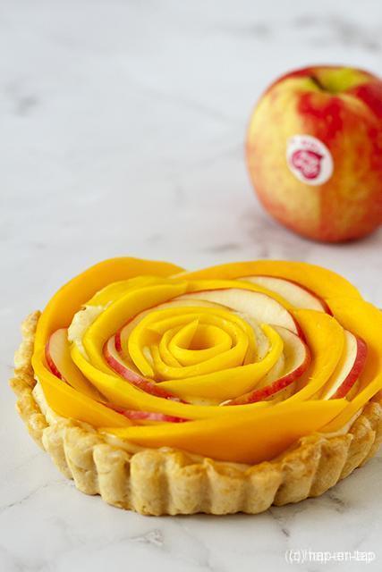 Appel-mango taart met vanillecrème