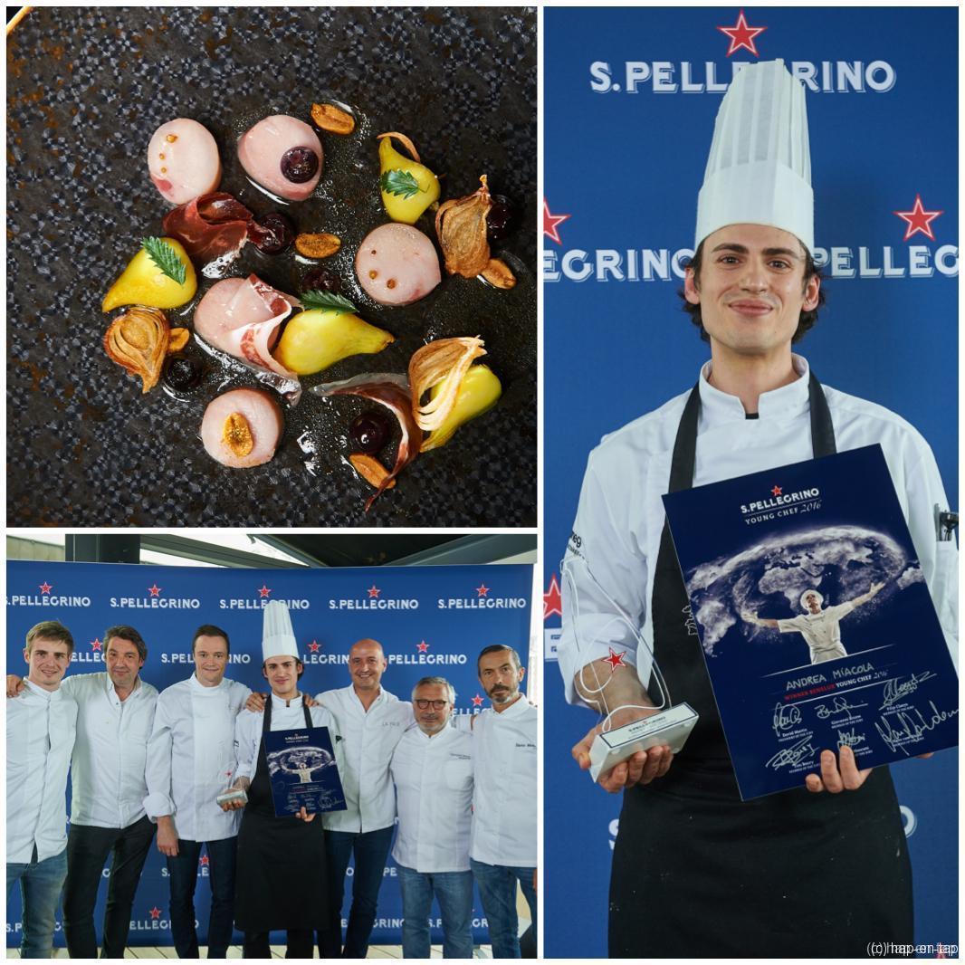 Andrea Miacola, S.Pellegrino Young Chef 2016 voor de Benelux