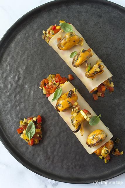Cannelloni van mosselen