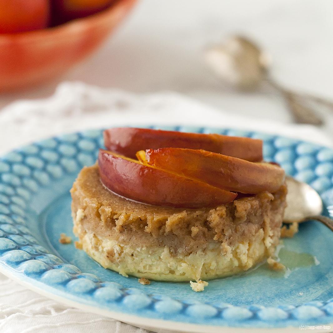 Cheesecakejes met speculoos en nectarines