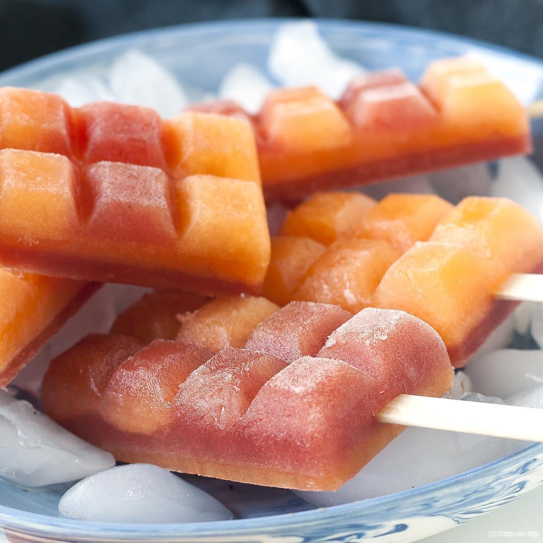 (Water)meloenijsjes zonder suiker