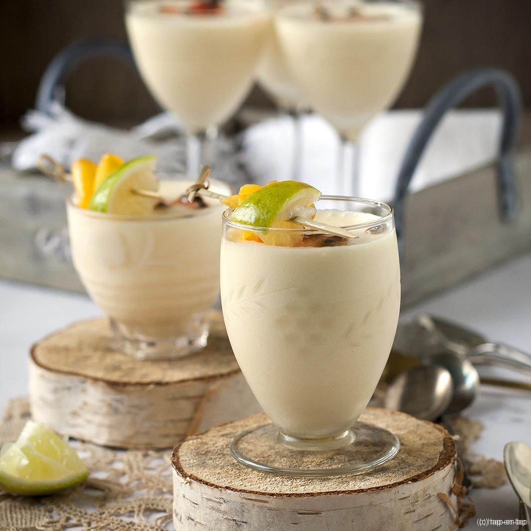 Crème van passievruchten en kokos