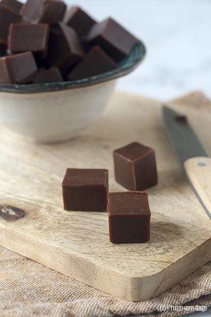 Karamelsnoepjes met chocolade