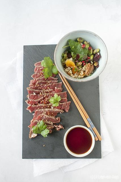 Mijn pleidooi voor minder maar beter vlees + het recept voor tataki van rund