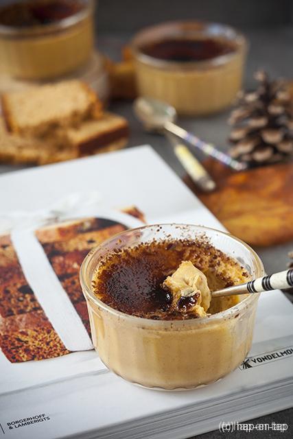 Crème brûlée met peperkoek
