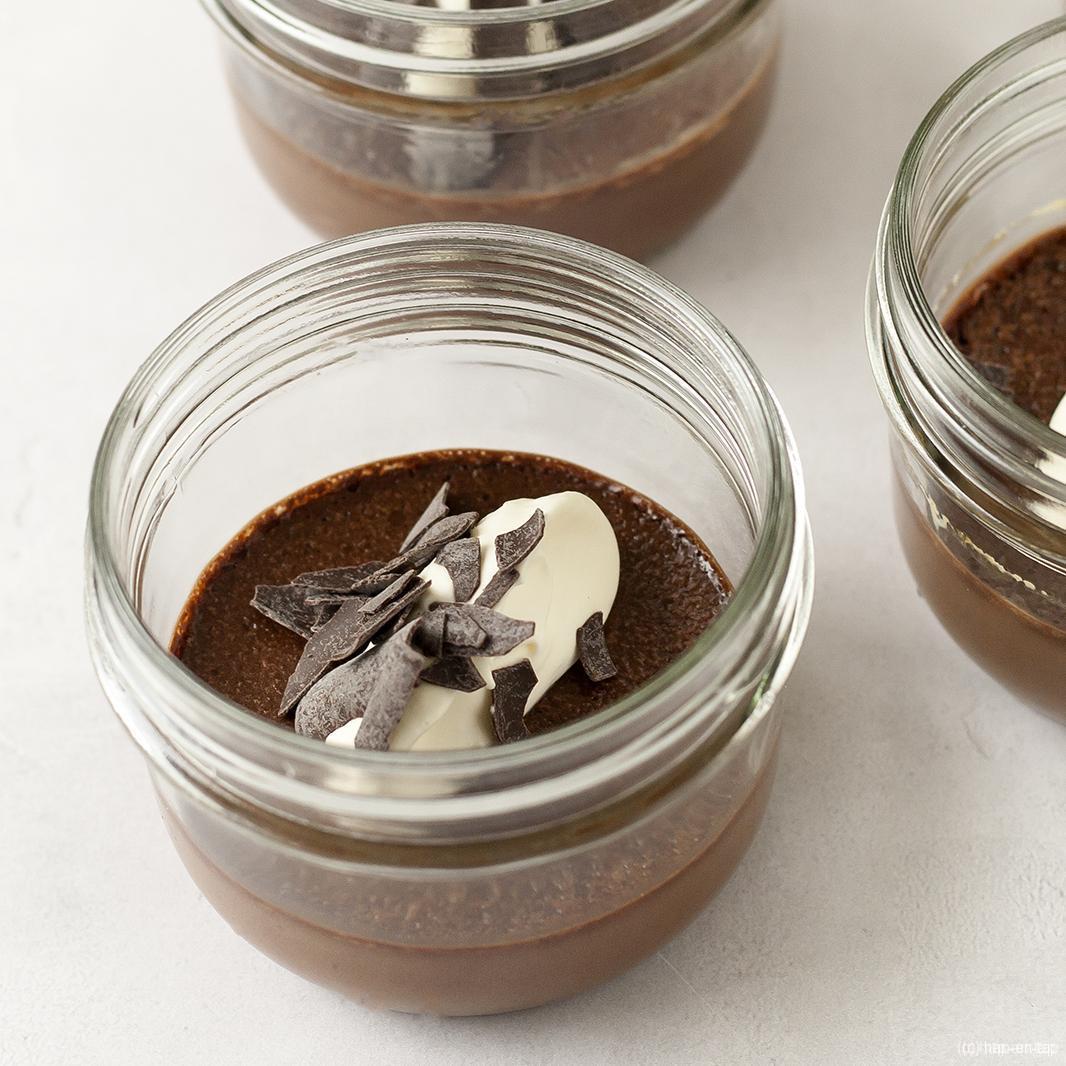 Earl Grey chocolade pots de crème