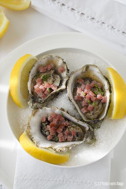 Kilpatrick oesters op de grill met worcestersaus