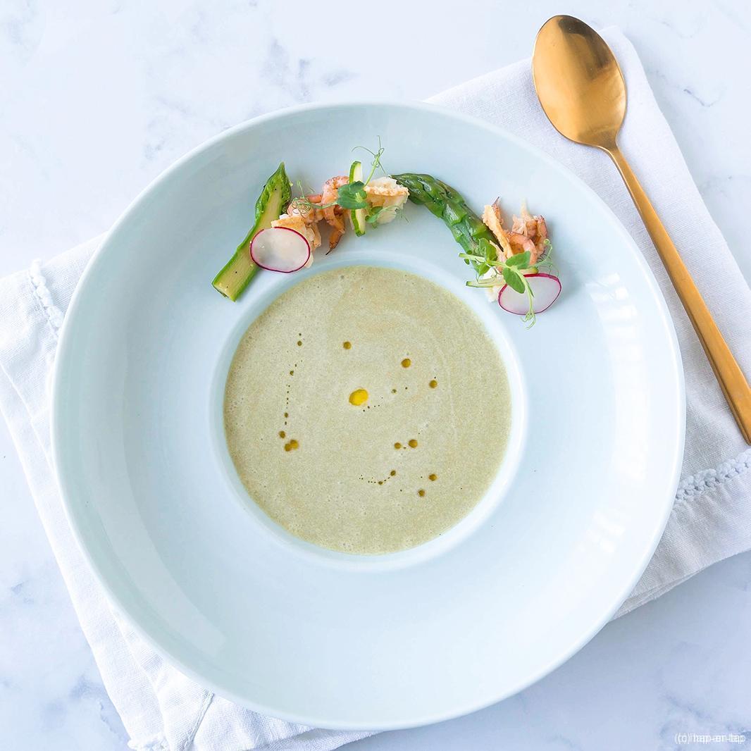Vichyssoise van groene asperges met Reypenaer