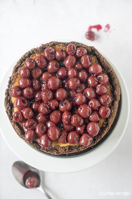 Kersen-cheesecake met kirsch
