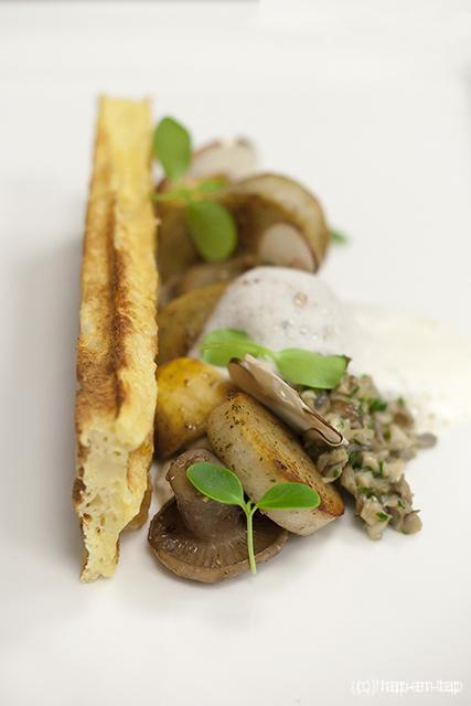 Pastinaakwafel, paddenstoel, witte pens, spekschuim