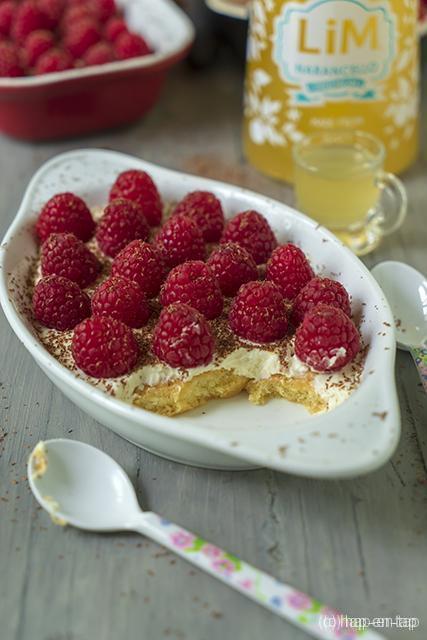 Narancello trifle met frambozen