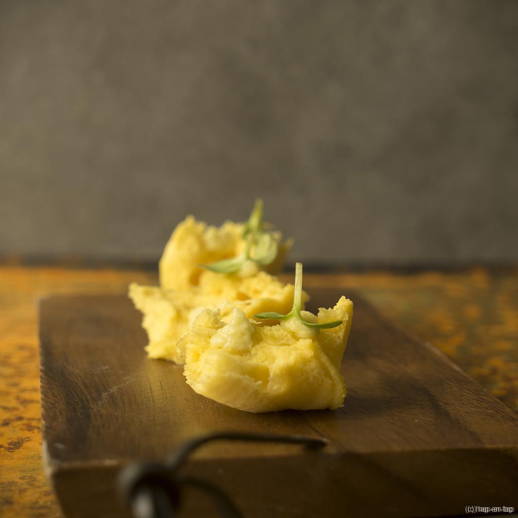Spongecake van Oud Brugge, crème van artisjok