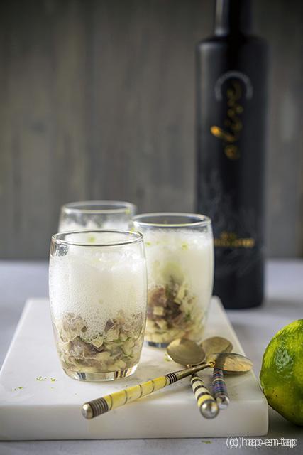 Haringtartaar met gin-fizz espuma