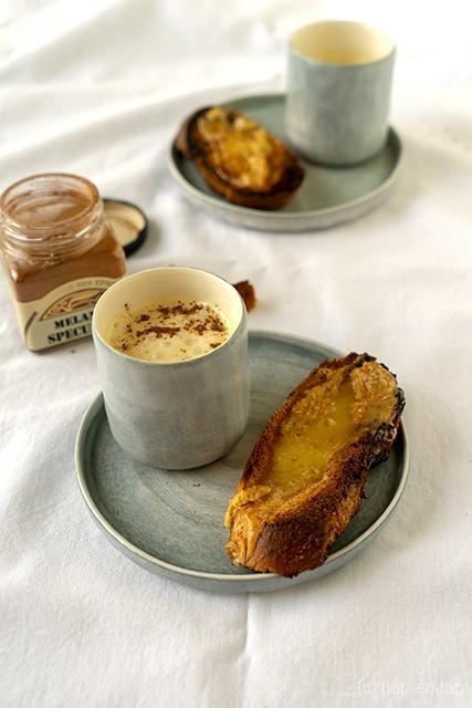 Mousse tiède d'époisses au pain d'épices et sa tartine