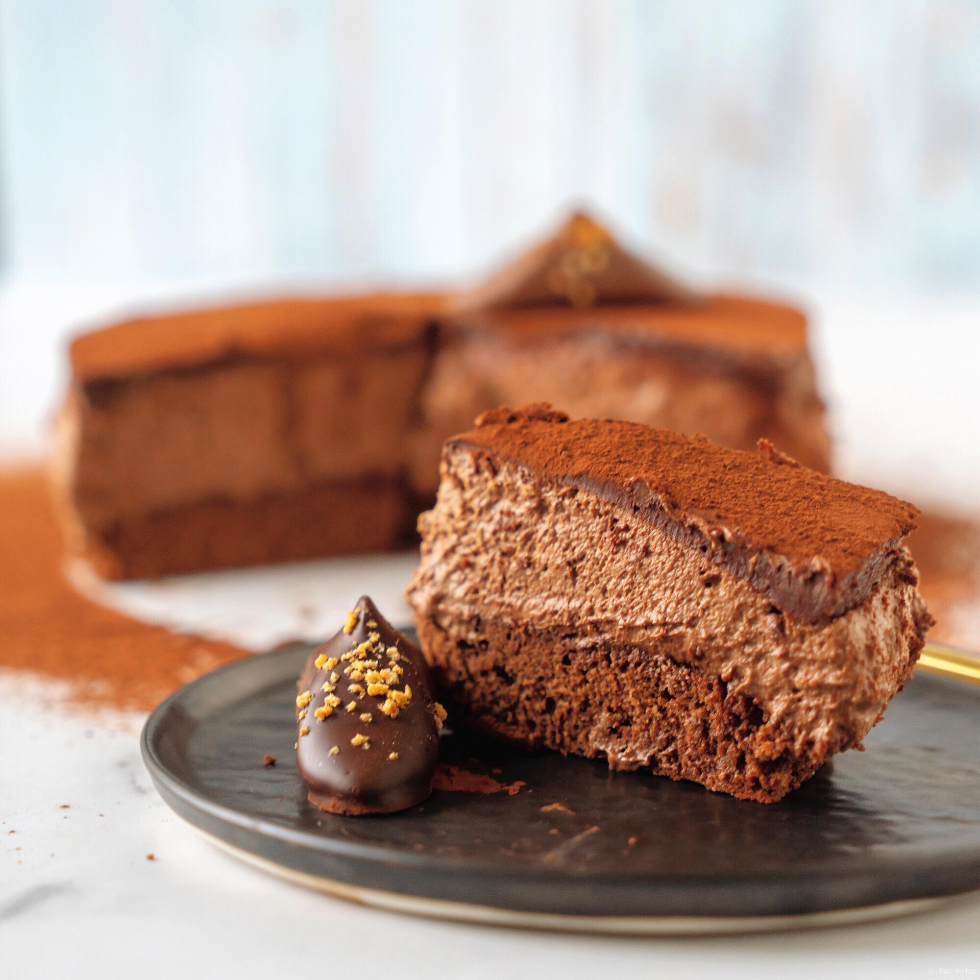 Triple chocolademousse cake