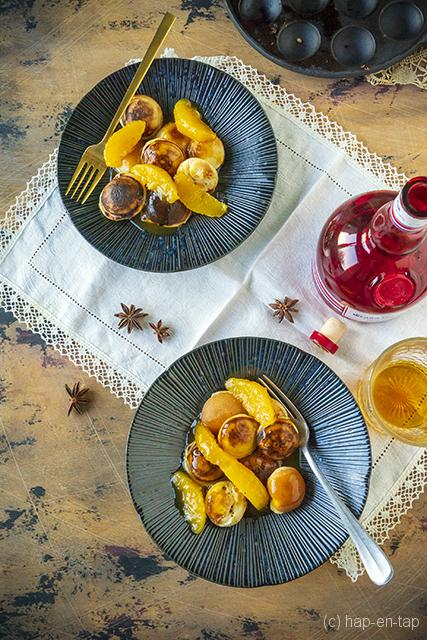 Anijspoffertjes met karamelsaus