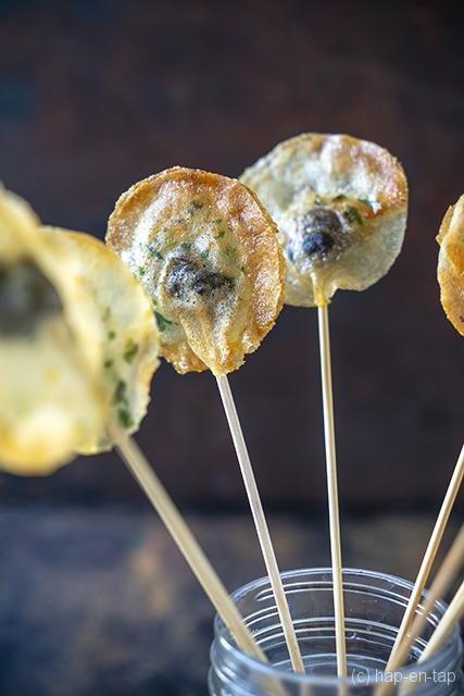 Krokante lolly's met escargots