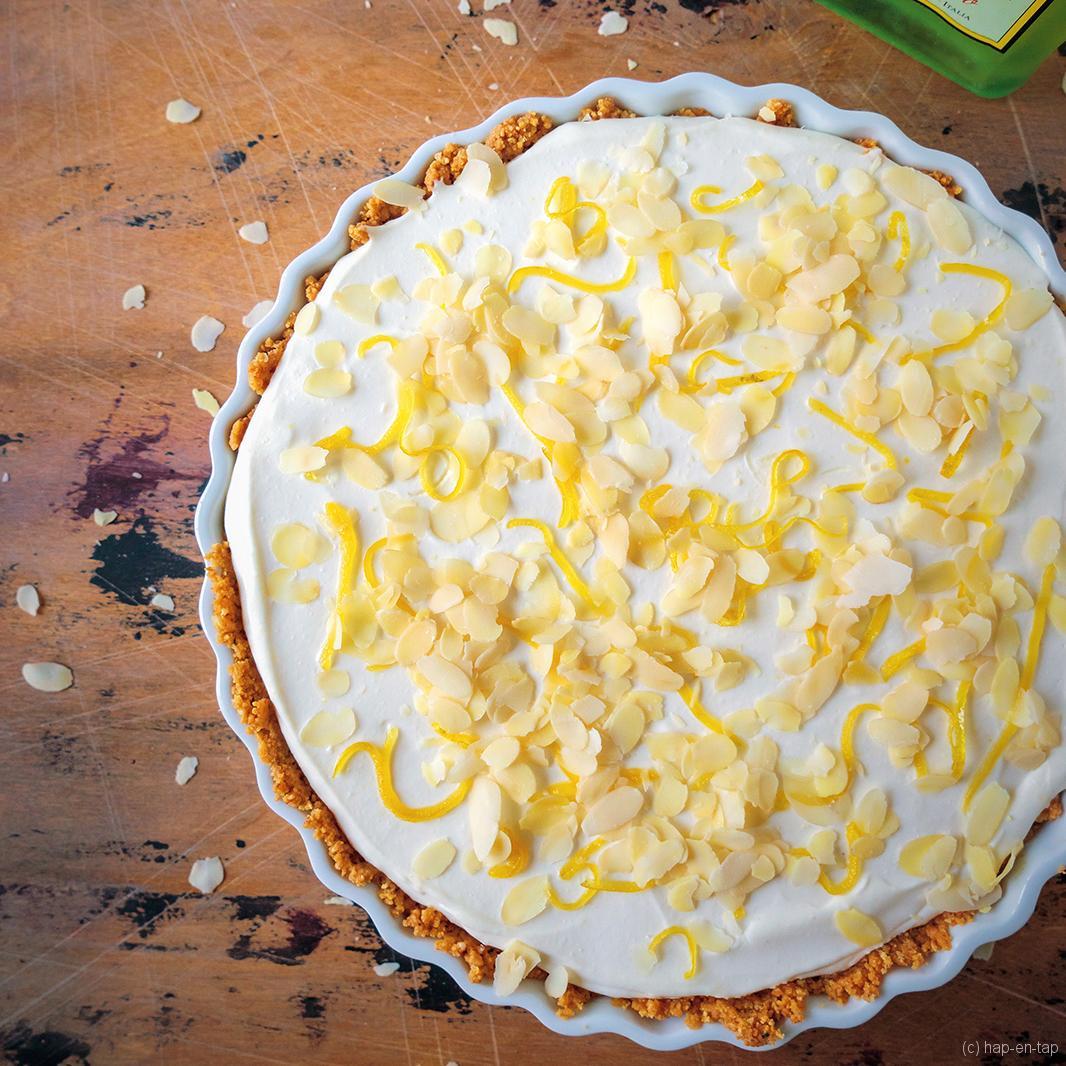 Mascarponetaart met amaretti en limoncello