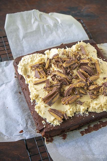 Chocoladetaart met pindakaas