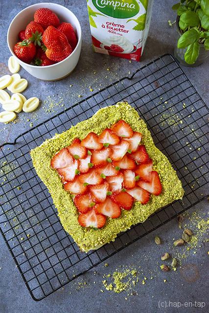 Bretoens zanddeeg met aardbeien