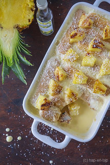 Exotische tiramisu met ananas en kokos