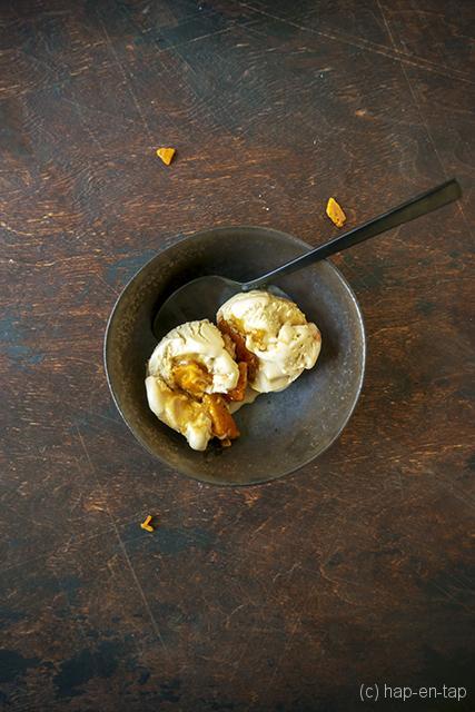Ahornsiroopijs met honeycomb