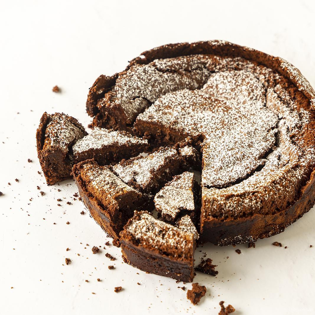 Chocolade olijfolie cake