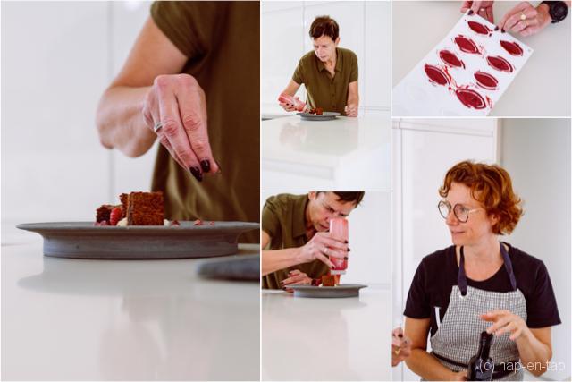 Orthomoleculair kerstdessert met chocolade, braambes en framboos