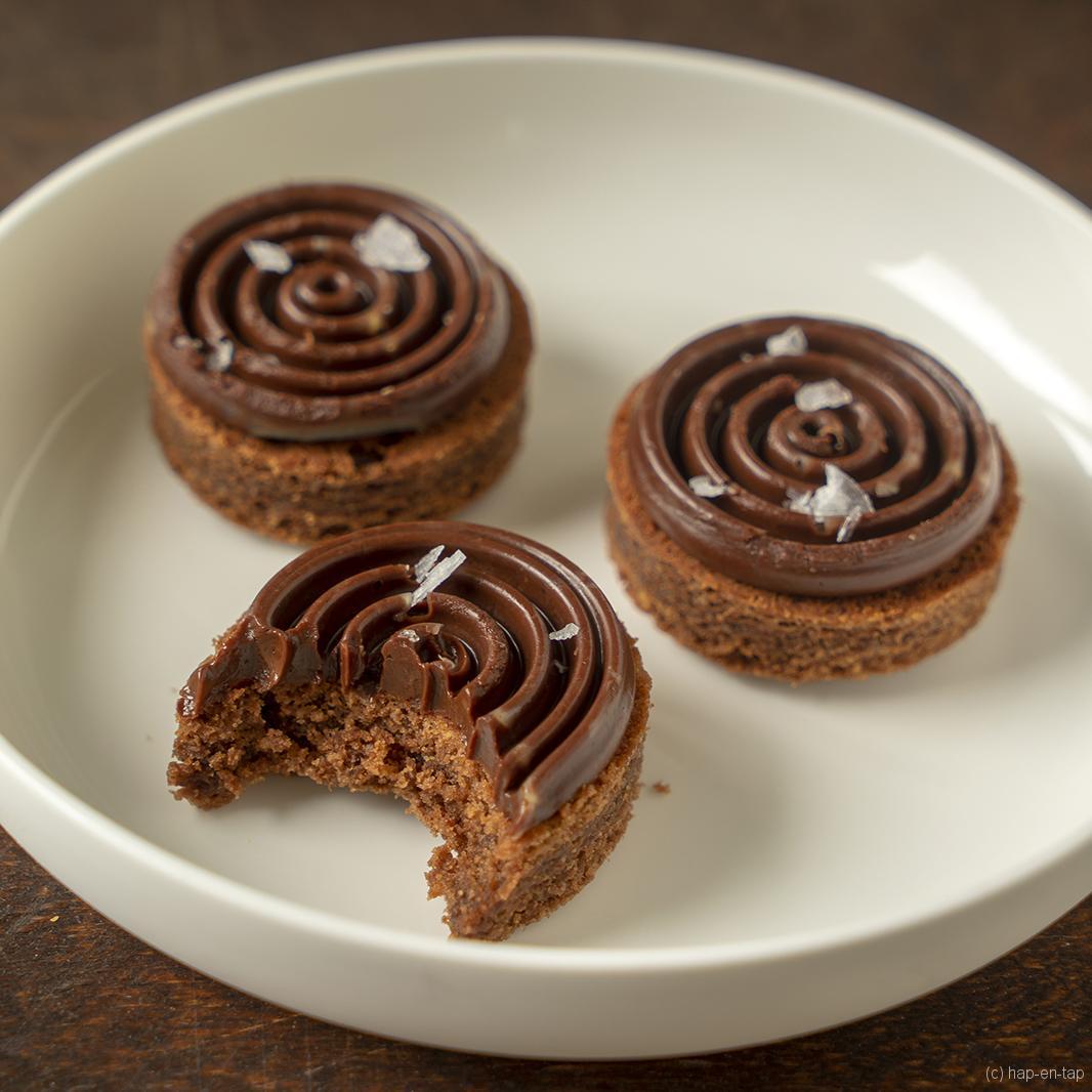 Hazelnoot chocolade zandkoekjes