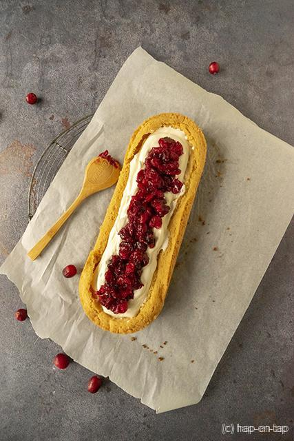 Amandelslof met geroosterde cranberry's