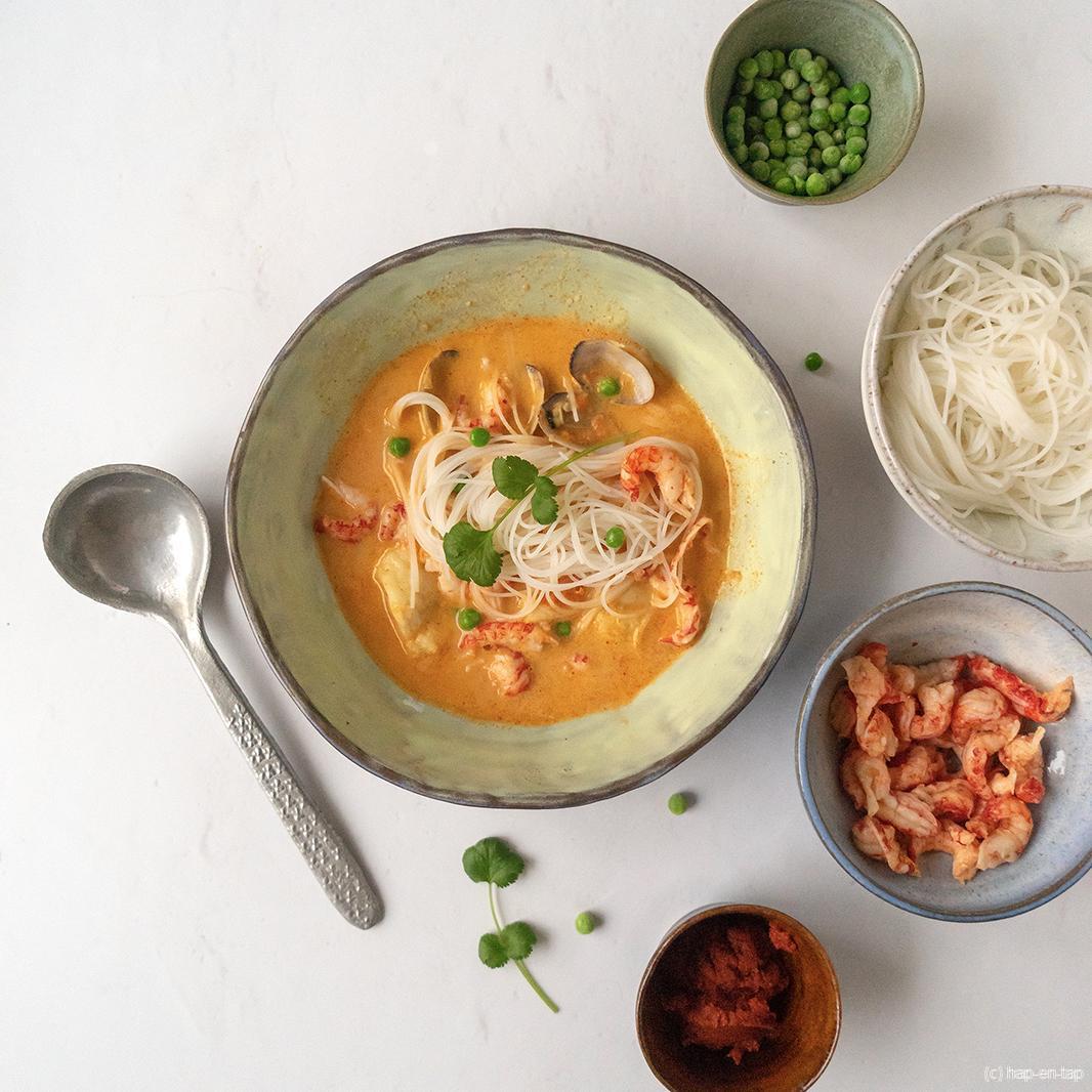 Thaise vissoep met koriander