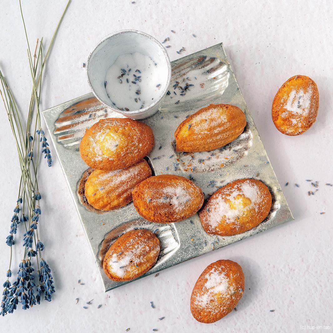 Madeleines met lavendel en honing