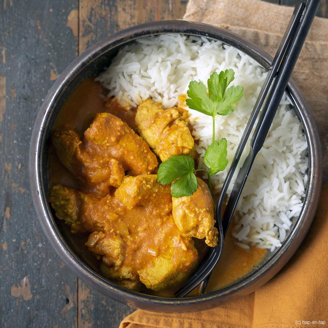 Indische Tikka Masala (en review van mijn AMC-kookpottenset)