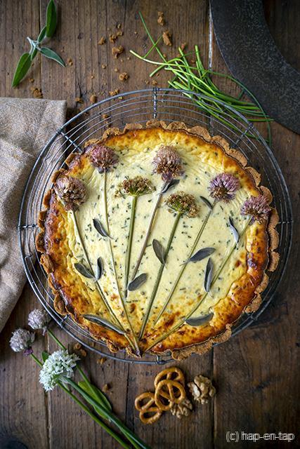 Hartige cheesecake met 3 kazen
