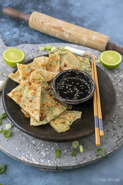 Chinese pannenkoeken met lente-ui