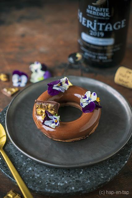 Chocoladeganache-taartje met zanddeeg